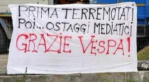Protesta terremotati L'Aquila